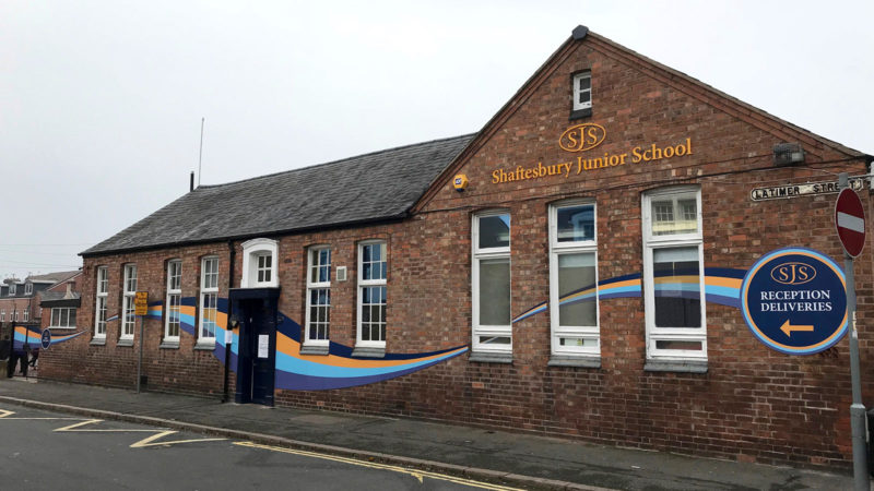 NEW SIGNAGE FOR SHAFTESBURY JUNIOR SCHOOL